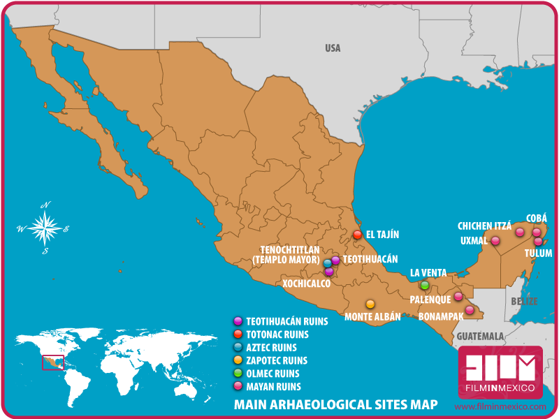 Archaeological Sites | Film in Mexico
