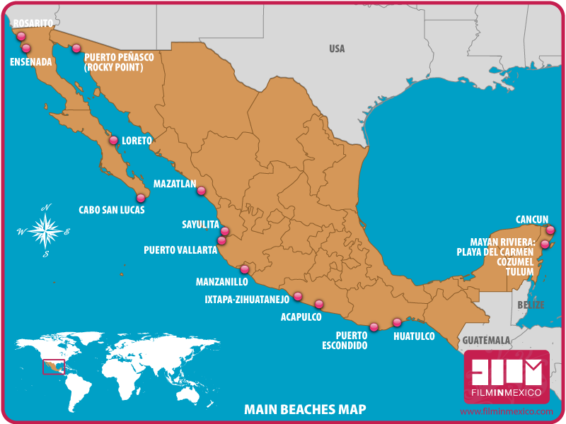 Main Beaches Map