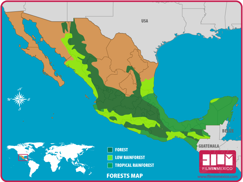 Film In Mexico Maps
