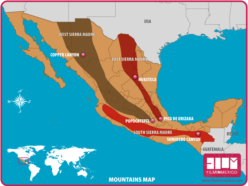 sierra madre desert on world map Mountains Film In Mexico