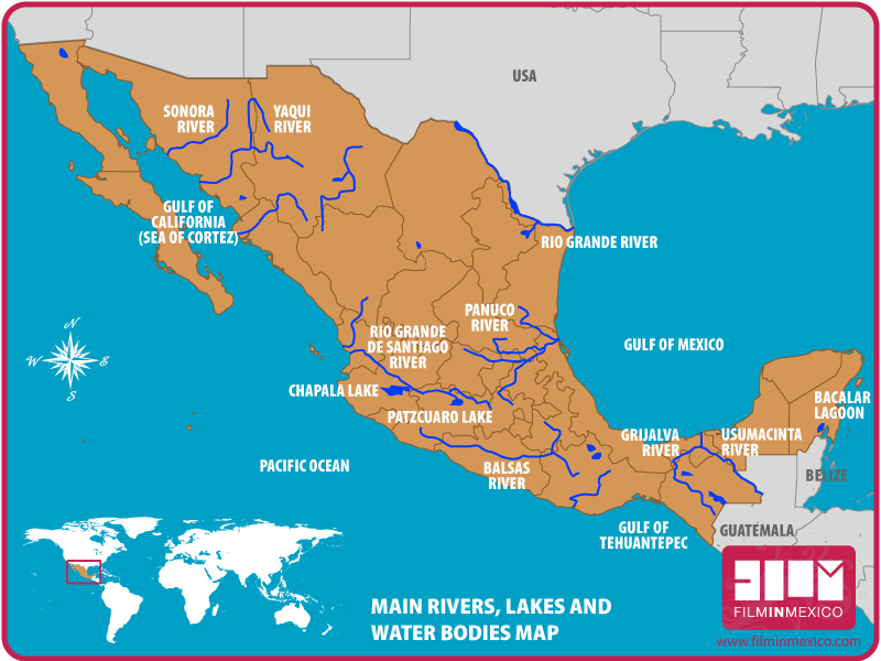 Lakes and Rivers Map
